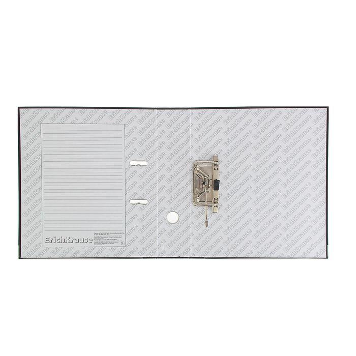 Папка-регистратор А4, 70 мм, «Стандарт», разборный, чёрный, этикетка на корешке, металлический кант, картон 2 мм, вместимость 450 листов - фото 408708820