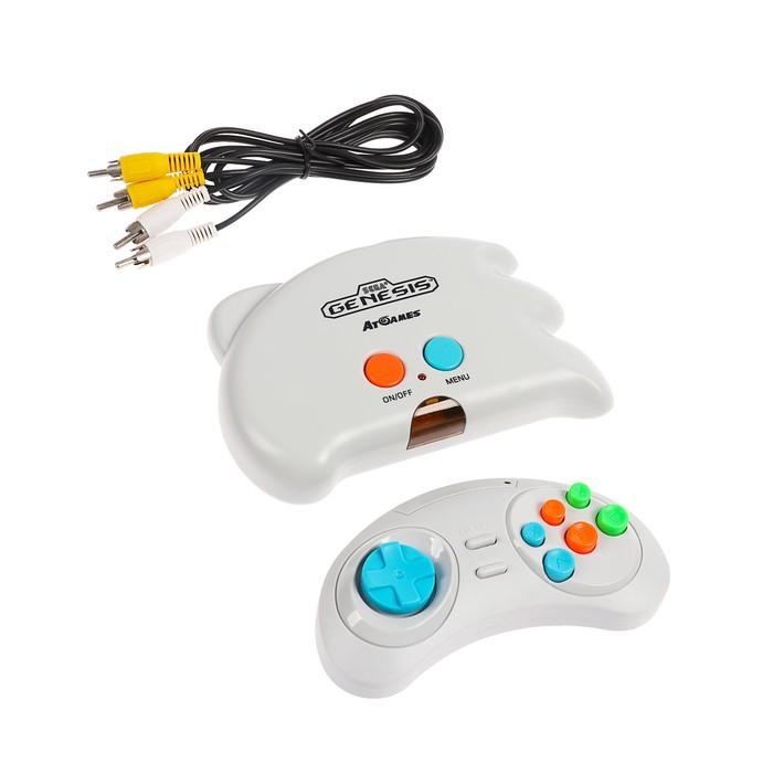 Игровая приставка SEGA Genesis NanoTrainer + 40 игр (геймпад, AV кабель) белый