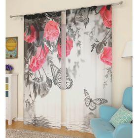 Тюль «Оттенки цветов», размер 145 х 260 см, 2 шт.