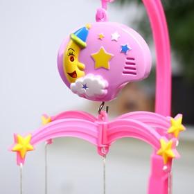 Мобиль музыкальный «Мой ангел», 3 игрушки, заводной, без кронштейна, цвет МИКС