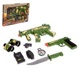 Набор военного «Защитник», 8 предметов, световые и звуковые эффекты