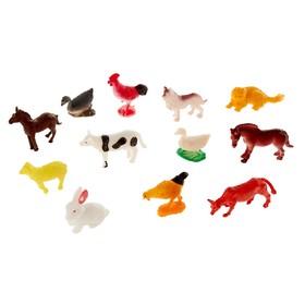 Набор животных «Весёлая ферма», 12 фигурок