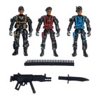 "A set of toy soldiers ""Fighters"", 3 PCs., accessories"