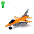 Самолет радиоуправляемый «Истребитель», световые эффекты, работает от батареек, МИКС