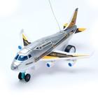 Самолет радиоуправляемый «Лайнер», световые эффекты, работает от батареек, МИКС - фото 105641210