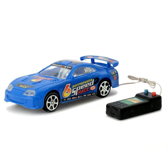 """Машина """"Супра"""", на дистанционном управлении, работает от батареек цвета МИКС"""