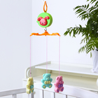 Мобиль музыкальный «Медвежата», 3 игрушки, заводной, без кронштейна