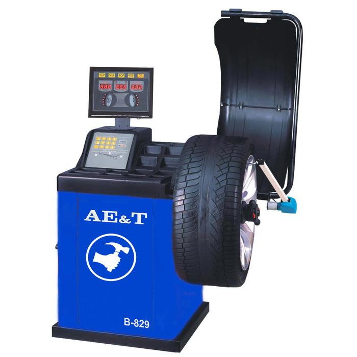 "Cтенд балансировочный AE&T B-829, электронная линейка, d=10-24"", ширина 1.5-20"", до 65 кг"