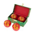 """Поющие шары Баодинга (шары здоровья) (набор 2шт) d=4 см """"Иероглиф"""", цвета МИКС"""