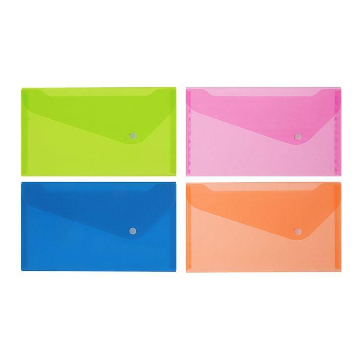 Папка-конверт на кнопке Travel 180мкм Neon Drive, микс