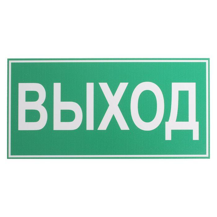 """Табличка """"ВЫХОД"""" 200*100 мм"""