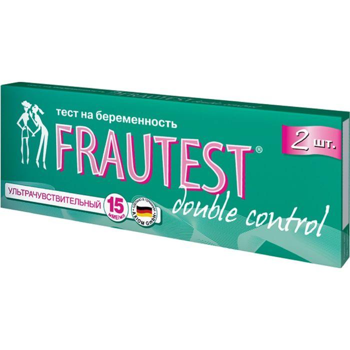 Тест на определение беременности FRAUTEST double сontrol (тест-полоски) 2 шт.