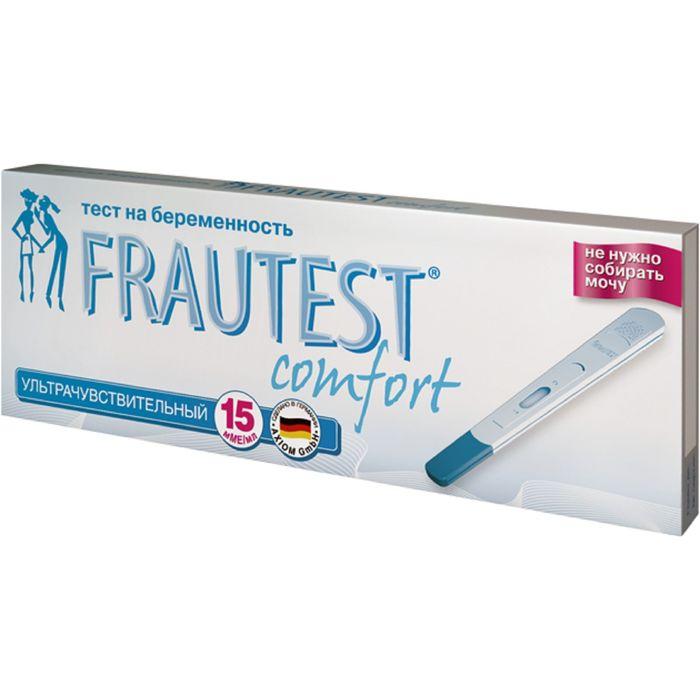 Тест на определение беременности FRAUTEST comfort (в кассете с колпачком) 1 шт.
