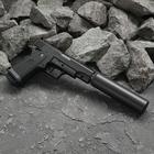 Пистолет пневматический пружинный Colt 1911PD G.10A с имитацией глушителя
