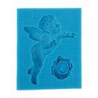 """Молд для полимерной глины """"Большой ангел и цветок"""" МИКС р-р изделия 3,5х5,5 см"""