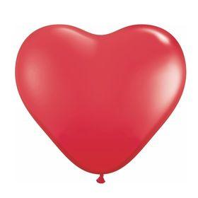 """Шар латексный 12"""" «Сердце», пастель, набор 100 шт., цвет красный"""