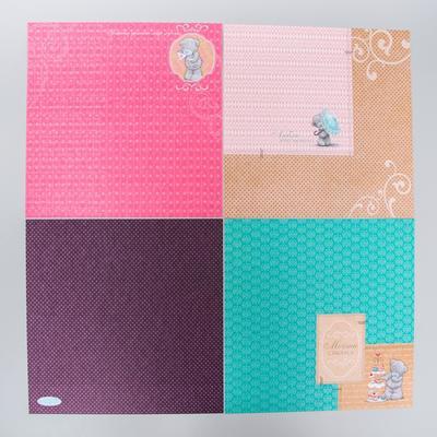 """Набор бумаги для скрапбукинга Me to you """"Просто маленький привет"""", 12 листов, 30.5 x 30.5 см, 180 г/м²"""