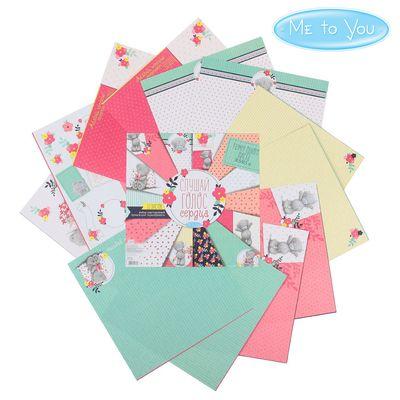 """Набор бумаги для скрапбукинга Me to you """"Слушай голос сердца"""", 12 листов, 30.5 x 30.5 см, 180 г/м²"""