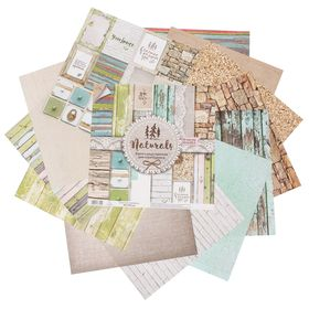 Paper for scrapbooking Naturals, 12 sheets, 30.5 x 30.5 cm, 180 g/m