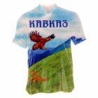 """Магнит в форме футболки """"Кавказ"""""""