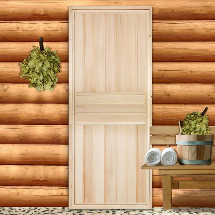 """Дверь для бани """"Вертикаль"""", 180х80см"""