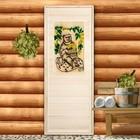 """Дверь для бани """" Резная вставка 2D"""", 180х80см"""