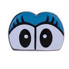 Глаза винтовые сдвоенные, с заглушками, 2 шт, размер 2,8*2 см
