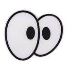 Глаза винтовые сдвоенные, с заглушками, 1 шт, размер 4,4*3,8 см