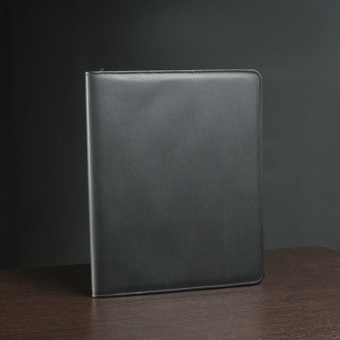 Папка деловая на молнии, 1 отдел, цвет чёрный