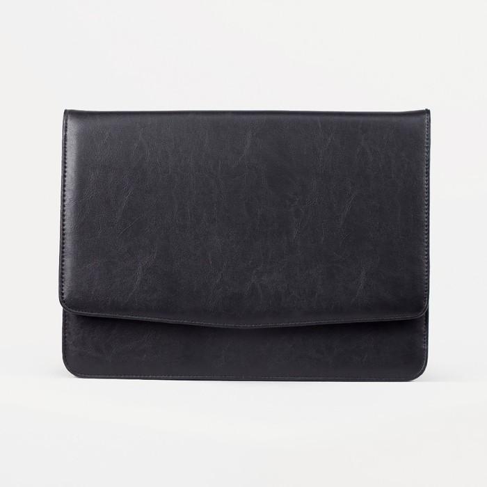 Папка деловая, 1 отдел на магнитной кнопке, цвет чёрный