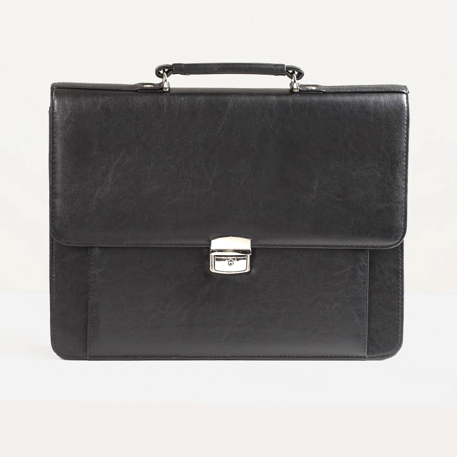 ea3846e7497f Сумка-портфель мужская на молнии, 2 отдела, цвет чёрный (1809114 ...