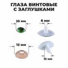 Глаза винтовые с заглушками, набор 4 шт., размер 1 шт. 2,5 × 1,5 см