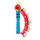 Игрушка музыкальная Бубен «Звери» с колокольчиками, МИКС - фото 106524877