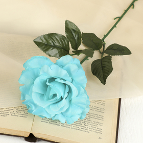 Flower artificial rose-scalloped, Teal