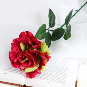 Flower artificial rose-scalloped, yellow-crimson