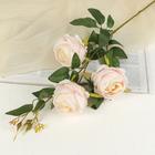 """Цветы искусственные """"Роза"""" три бутона, светло-розовая - фото 1692600"""