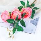 """Цветы искусственные """"Роза"""" три бутона, персиковая"""