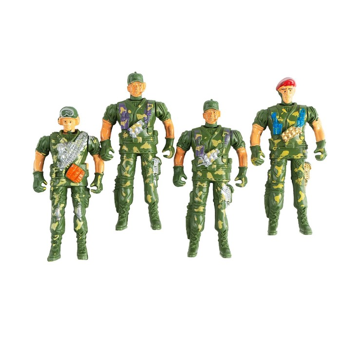 """Набор солдатиков """"Спецназ"""", 4 шт."""