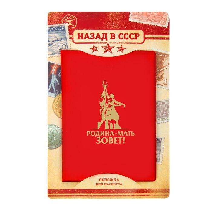 """Обложка для паспорта """"Родина-мать зовет"""""""