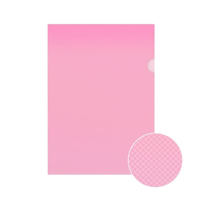 Папка-уголок А4 Erich Krause Clear Standard L-File New, красная, вместимость 80 листов