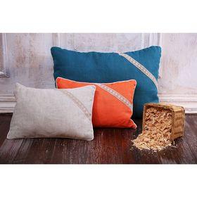 Подушка «Кедровая магия», размер 40х60 см, цвет натуральный, кедровая стружка, лён 100%