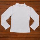 Водолазка для девочки, рост 98-104 см (28), цвет белый 1255-ДДП-13