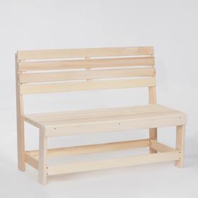 """Скамейка из наличника, 120×50×90см, из липы, """"Добропаровъ"""""""