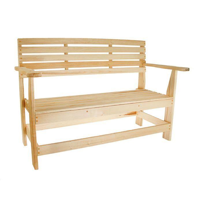 Скамейка с подлокотниками 140х55х90 см