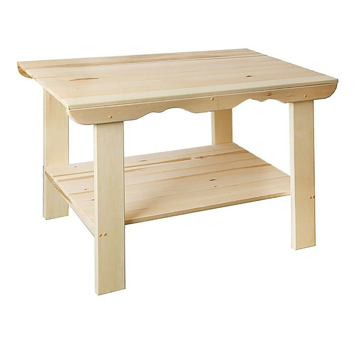 Стол с полкой 110×63×73 см