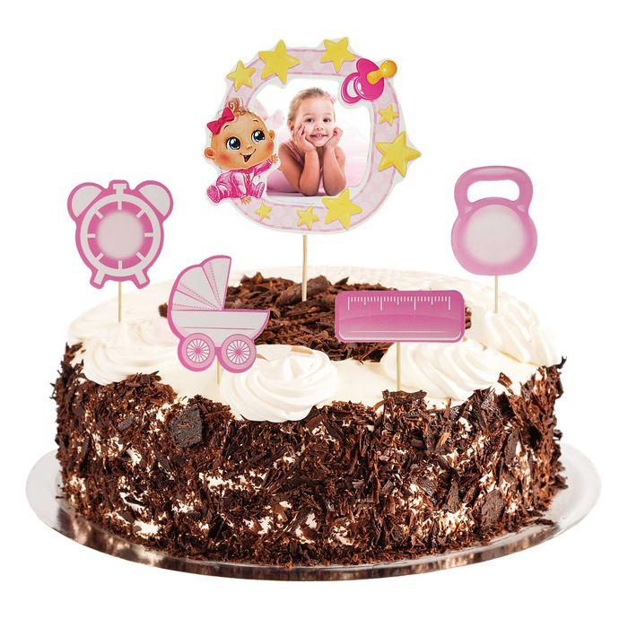 """Топперы в торт """"Наша малышка"""" с фоторамкой"""