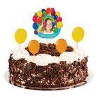 """Топперы в торт """"С Днем Рождения""""шарики с фоторамкой"""