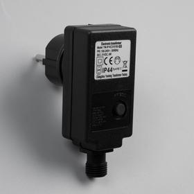 Трансформатор для гирлянд 24V, 6 Вт, Н.Т. 2W, 8 режимов, чёрный