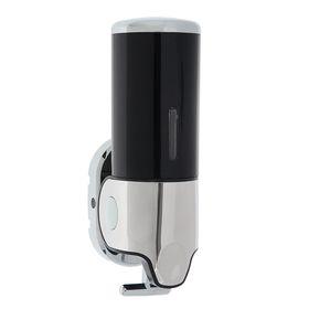 Диспенсер для жидкого мыла механический, 400 мл, металл, цвет чёрный