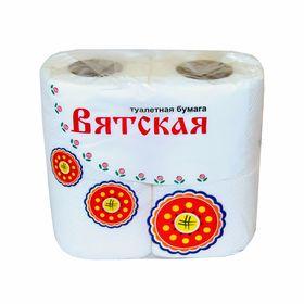 """Туалетная бумага """"Вятская"""", 2 слоя, 4 рулона"""